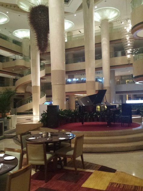 Wide view of the Sheraton Lobby