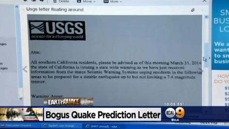 Hoax USGS Article